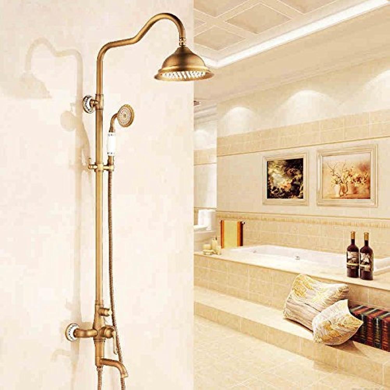Gyps Faucet Waschtisch-Einhebelmischer Waschtischarmatur BadarmaturHeben Sie Das Kupfer Gold Dusche Dusche Dusche Wasserhahn Retro Dusche Antike VerGoldet,Mischbatterie Waschbecken