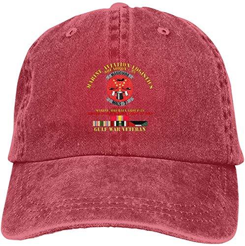 angwenkuanku Marine Aviation Logistics Squadron 39 Mals 39 Hellhounds Gulf War Vet W SVC Denim Dad Hats Adjustable Baseball Cap gorgeous31201