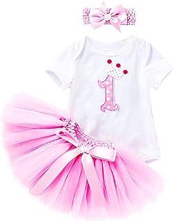 yuyuanDO 3pcs Bandeau Jupe Bebe Fille Tutu Bebe Robe Bapt/ême Costume de Princesse Robe Princesse Photographie Nouveau n/é Bebe Cadeaux Bebe Fille Pas Cher