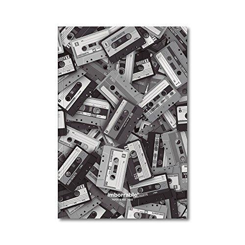 Imborrable Cassette - Cuaderno de notas con interior liso, 144 páginas, B5, 16.5 x 24.5 cm