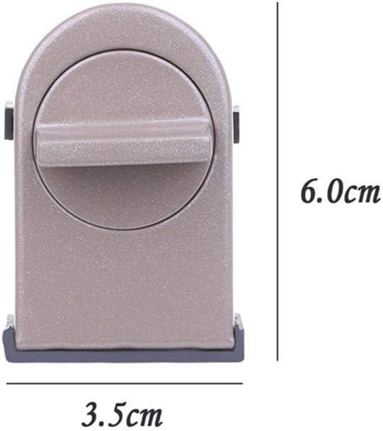 Easy Installation 4 Pieces//Batch Window Sliding Sliding Door Lock Anti-Theft Baby Child Safety Door Lock Stainless Steel Color : Brown