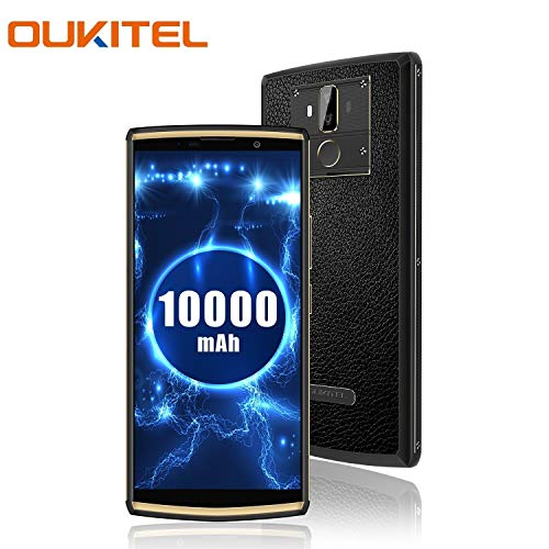 OUKITEL K7 Pro 10000mah Großer Akku Handy 6 Zoll 64GB ROM 4GB RAM Smartphone Android 9.0 Ohne Vertrag 4G Dual SIM 13MP +2MP +5MP Dual Back Kamera Octa-Core 9V/2A Fingerabdruck Face id und OTG