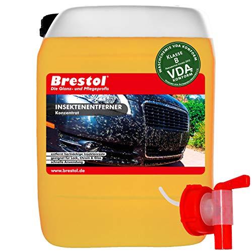 Brestol Insektenentferner 5 Liter Konzentrat inkl. Auslaufhahn 51 mm - Insektenlöser Insektenreiniger Polycarbonat Vogelkotentferner Spezialreiniger alkalisch