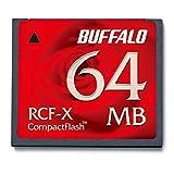 Buffalo RCF-X64MY Memoria Flash 0,0625 GB CompactFlash - Tarjeta de Memoria (0,0625 GB, CompactFlash, Rojo)