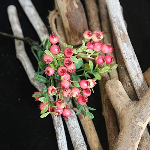 1 stuks kunstmatige bessen groene bonen schuim bloemen home decor kleine nep bloemen bacca fruit tak decoratie accessoires nep plan, 13
