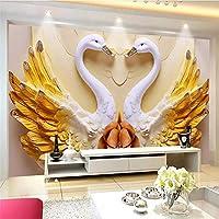 HGFHGD 壁紙3d壁画美しい愛のテーマ結婚式の部屋の背景壁レリーフ壁紙リビングルーム壁アート装飾