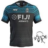 GWCASA Nouveau Maillot de Rugby des Fidji, Haut de Maillot de Football pour Hommes, Maillots de Rugby à Domicile et à l'extérieur-C-5XL