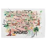 artboxONE Poster 30x20 cm Städte Madrid Spain Illustrated