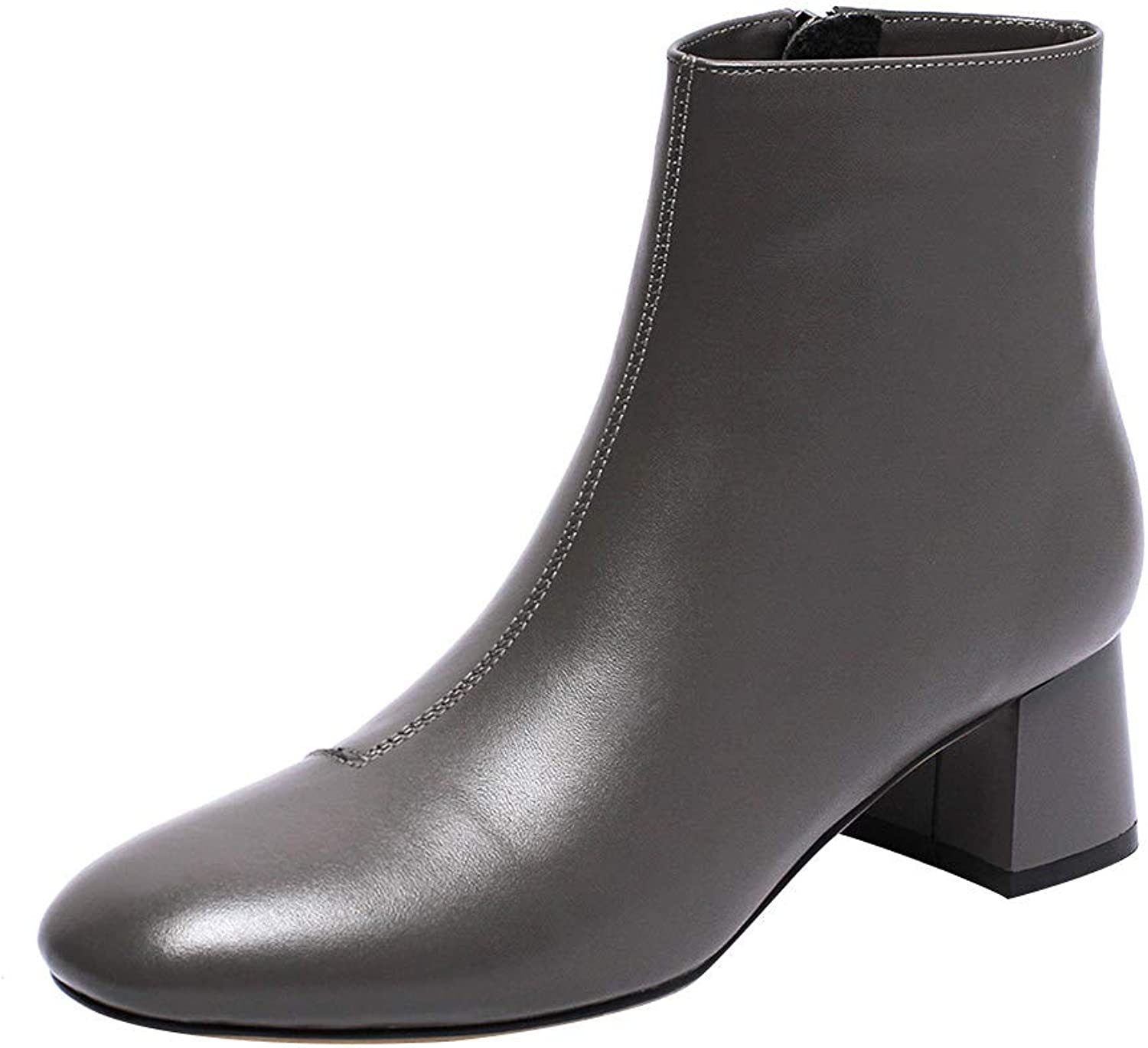 MAYPIE Womens Toamong Leather Zipper Ankle Boots