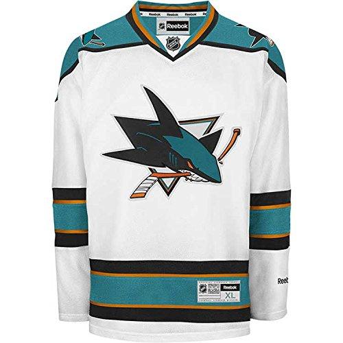 NHL Herren Trikot San Jose Sharks Center Ice Premier, Herren, Wei, XX-Large