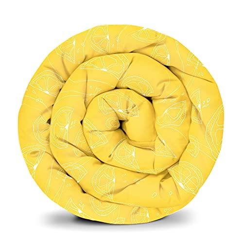 GRAVITÉ Été Housse pour couverture lestée GRAVITÉ , Housse d'été coton / velours pour adultes et adolescents pour un meilleur sommeil Taille : 150x220 cm