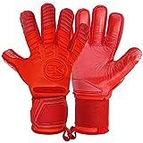 GK Saver Unisex's United Pro - Guantes de Portero, Color Rojo, Talla 8
