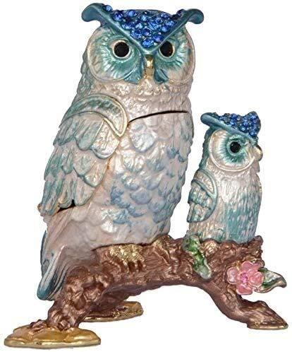 Escultura de escritorio Búho estatua animal joyería cabeza escultura escritorio decoración del hogar decoración accesorios coleccionables cumpleaños regalo figurines (Color : B)