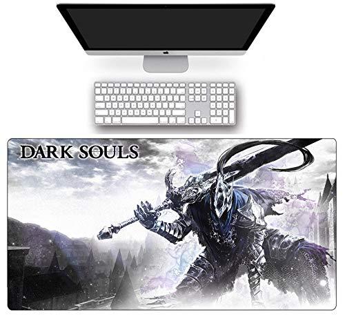 Alfombrilla de ratón grande para ratón de juegos de velocidad Dark Souls alfombra de teclado de ordenador antideslizante goma natural Anime alfombra de escritorio para jugador