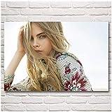 DOAQTE Cara Delevingne Frau Modell Poster für Schlafzimmer