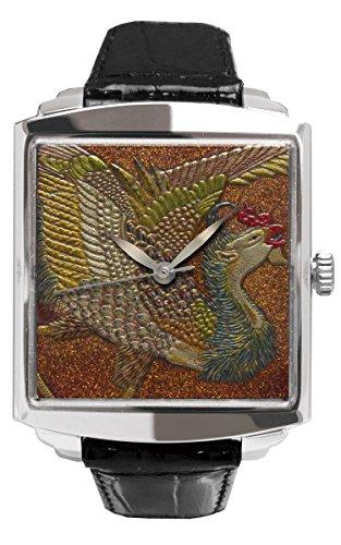 Urushi Makie Phoenix dell' orologio Jakuchu–Taka maki-e-