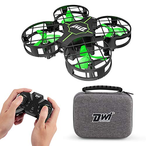 Dwi Dowellin Mini Drone for Kids Crash Proof One Key Take Off Landing Spin Flips RC Small Drones for Beginners Boys and Girls Nano Quadcopter Flying Toys, Black