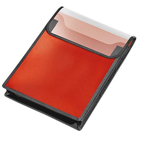 Veloflex 1442422 Sammelbox VELOBAG, Heftbox, Sammelmappe, DIN A4, PP-Folie, 40 mm Füllhöhe, rot