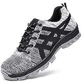 Zapatos de Seguridad para Hombres de Gran TamañO, Zapatos de Trabajo Transpirables con Puntera de Acero, Zapatos de Trabajo Antigolpes Zapatos Deportivos 36-50,16UK