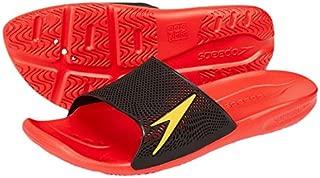 Atami II Max Pool Slider Sandals, Lava Red/Black