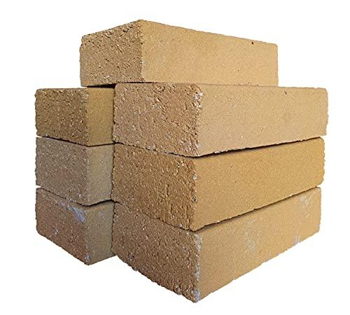 Schamottesteine Backofensteine NF Glatt 7 Stück ca. 250 x 124 x 64 mm