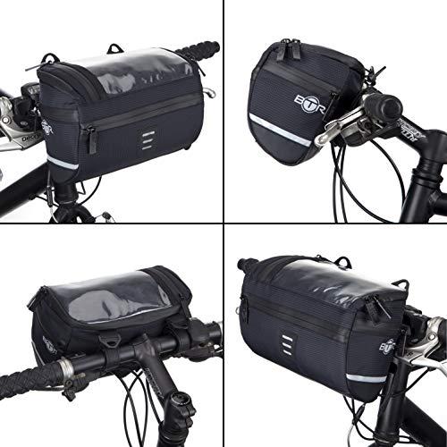 BTR Wasserabweisende Fahrrad Lenkertasche mit Navi/Handy Tasche, Fahrradtasche Lenker. Wasserdicht - 4