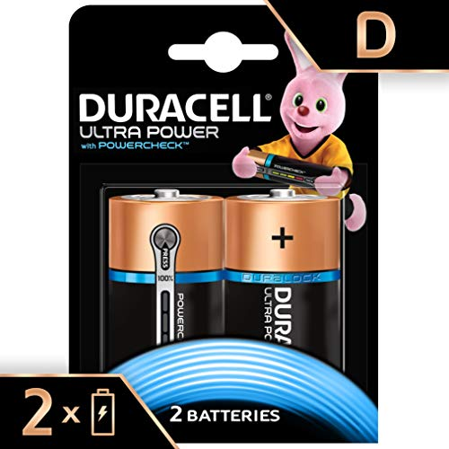 Duracell Ultra Power Typ D Alkaline Batterien, 2er Pack