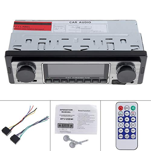 ePathChina 12V Bluetooth Car Radio MP3 Player Vehicle Stereo Audio Support FM/USB/SD/AUX with Remote Control