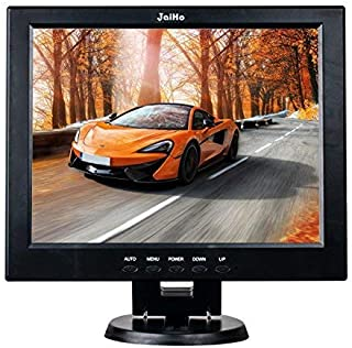 12 Inch LCD Security CCTV Monitor, 800X600 4:3 Resolution HD Color TFT LCD Display Screen with VGA/HDMI/AV/BNC/MIC USB Ports for Surveillance Camera, STB and Other Video Equipment, Built-in Speaker