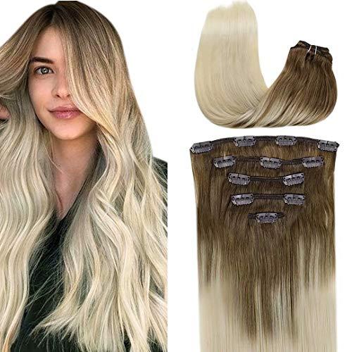 Extensiones de clip LaaVoo de pelo natural