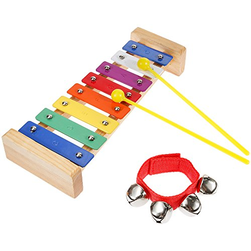Lictin Baby XylophoneWooden Xylophone Baby Musical Instruments Multi-color Musical Toy Baby Early...