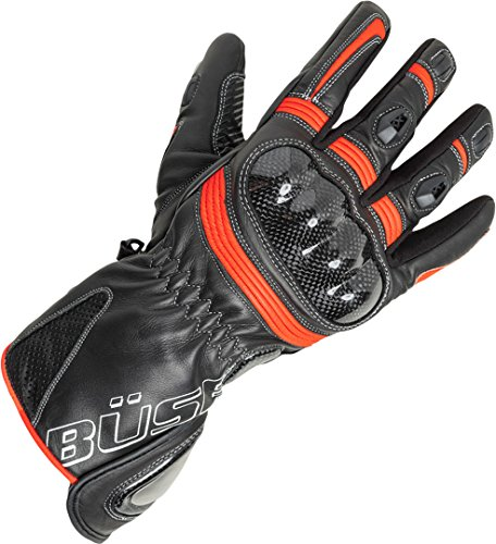 Büse Misano Handschuhe 9 Schwarz/Rot