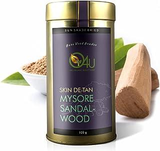 O4U Pure and Natural Freshest Mysore Organic Sandalwood Powder/ Chandan Powder for Facials and skin care - 100 g