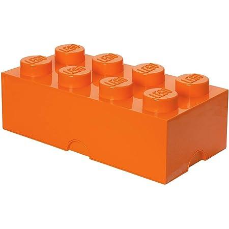 Room Copenhagen 40041760 Lego Brique Rangement empilable 8 plots, Autre, Orange Vif, One size