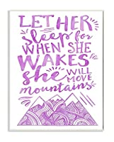 """The Kids Room by Stupell """"Let Her Sleep Purple Mountains"""" Wall Plaque Art [並行輸入品]"""