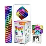 mybrand MagneDotz M-agnetic Balls M-agnets Fidget Gadget Marbles Beads Office Desk Toy & Stress Relief Multicolor Building Game Building Blocks