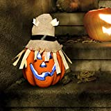 FUN LITTLE TOYS Pumpkin Light Up Halloween Jack-o'-Lantern Halloween Decorations Props Outdoor Indoor