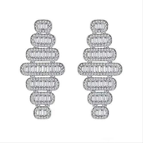 Temperament luxe vol zirkoon micro ingelegd goud lantaarn persoonlijkheid geometrische mode oorbellen