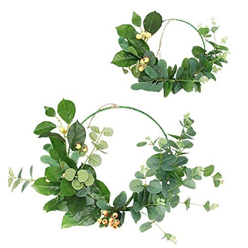 Demarkt 2 guirnaldas de flores artificiales de eucalipto, decoración de pared para cumpleaños, bodas, fiestas