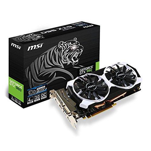 MSI GTX 960 4GD5T OC PCI-Express-Grafikkarte 4GB schwarz/weiß