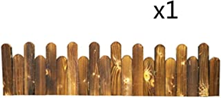 ZHANWEI Wooden Garden Fence Picket Fencing, Outdoor Patio Flower Bed Landscape Protective Guard Edging Decor, 3 Sizes (Col...