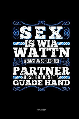 Sex Is Wia Wattn Notizbuch: Lustiger Kalender 2020 Für Kartenspieler Schafkopfen Wattn Bayern