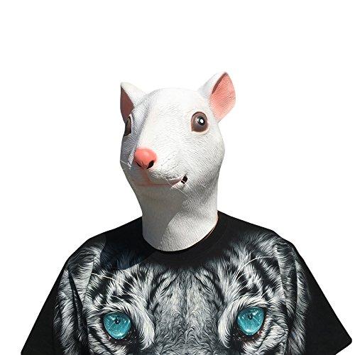 thematys Ratte Rat Maus Maske - perfekt für Fasching, Karneval & Halloween - Kostüm für Erwachsene - Latex, Unisex Einheitsgröße