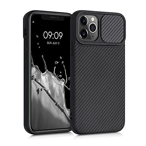 kwmobile Funda Compatible con Apple iPhone 11 Pro - Caracasa de Silicona TPU con Tapa para cámara - Negro