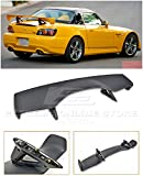 Extreme Online Store Replacement for 2000-2009 Honda S2000 AP1 AP2 | JDM CR Style ABS Plastic Primer Black Rear Trunk Lid Wing Spoiler