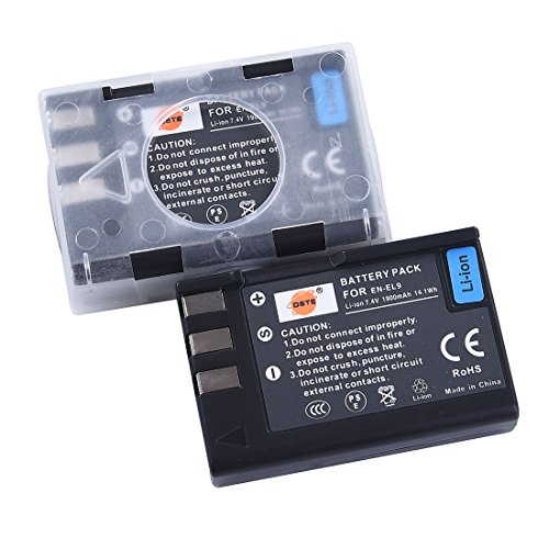 DSTE® 2x EN-EL9 Li-ion Batería para Nikon D40 D40x D60 D3000 D5000