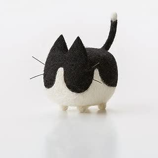 Truslin - DIY Needle Felting Kit with Gift Box Faceless Cat - Tuxedo Cat