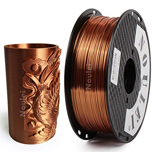 Noulei Filament PLA pour imprimante 3D 1.75 mm, Shiny 3D Printing Filament Silk COPPER Bobine 1kg