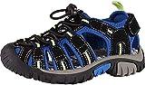 McKINLEY Vapor II Jr, Chaussures de Randonnée Basses Mixte, Noir/Bleu/Citron Vert 914, 36 EU