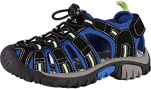 McKINLEY Vapor II Jr. Trekking- & Wanderhalbschuhe, Schwarz (Black/Blue/Lime 914), 38 EU